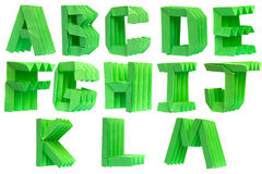 Alphabet origami Stock Photography