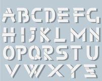 Alphabet origami style simple with sadows Stock Photo