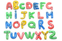 The alphabet out of plasticine. Stock Images