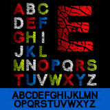 Alphabet - own font Royalty Free Stock Photo