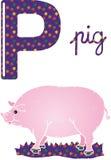 Alphabet p stock images