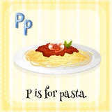 Alphabet P is for pasta Royalty Free Stock Photo