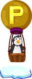 Alphabet P for penguin Royalty Free Stock Photo