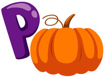 Alphabet P for pumpkin Stock Images