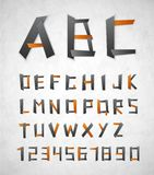 Alphabet from paper Royalty Free Stock Photography