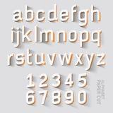 Alphabet paper cut designs. Vector. Illustrations Stock Images