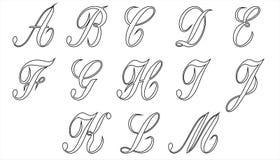 Alphabet part 1 Stock Photos