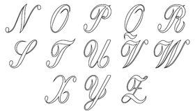 Alphabet part 2 Royalty Free Stock Images