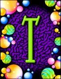 alphabet party t διανυσματική απεικόνιση