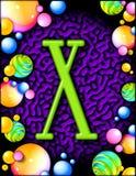 alphabet party x Στοκ Φωτογραφία
