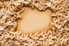 ALPHABET PASTA Stock Photos