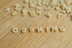 Alphabet pasta cooking Stock Photography