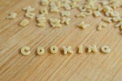 Alphabet pasta cooking Stock Photography