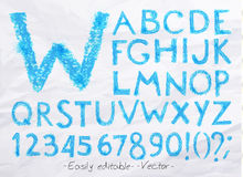 Alphabet pastel blue Royalty Free Stock Photo