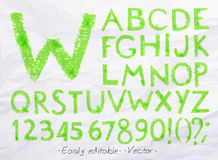 Alphabet pastel green Royalty Free Stock Photos