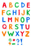 Alphabet pastel on white Royalty Free Stock Photography