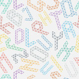 Alphabet pattern. Geometric alphabet seamless pattern.Vector background Royalty Free Stock Image