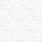 Alphabet pattern. Vector doodle seamless alphabet pattern on a white background for web Stock Image