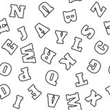 Alphabet pattern. Vector Royalty Free Stock Image