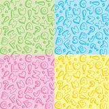 Alphabet patterns Royalty Free Stock Photography