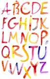 Alphabet peint d'aquarelle. Illustration de Vecteur