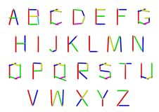 Alphabet from pencil letters Royalty Free Stock Photography