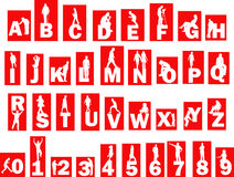 Alphabet with people Royalty Free Stock Photo