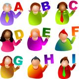 Alphabet people Royalty Free Stock Photography