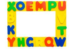 Alphabet Picture Frame stock photography