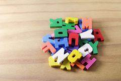 Alphabet Pieces Stock Photography