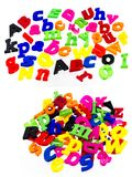 Alphabet pile colorful letters spelling. Colored plastic childrens scattered letters words preschool inspiration child school care teaching alphabet abc learning Royalty Free Stock Image