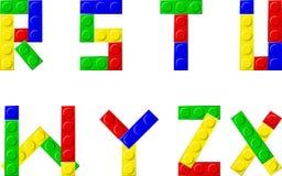 Blocks. Alphabet with plastic blocks - vector illustration Stock Photography