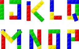 Blocks. Alphabet with plastic blocks - vector illustration Stock Photo