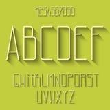 Alphabet plat illustration stock