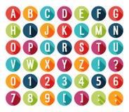Alphabet plat d'icônes. illustration de vecteur