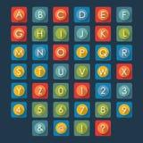 Alphabet plat d'icônes d'illustration Image libre de droits