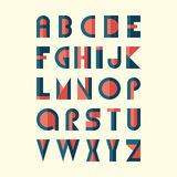 Alphabet plat moderne Images stock