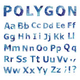 Alphabet. Polygonal font set. Royalty Free Stock Photo