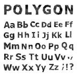 Alphabet. Polygonal font set. Stock Photography