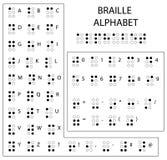 Alphabet, ponctuation et nombres de Braille Lecture pour les abat-jour Système d'écriture tactile employé par les personnes qui s illustration stock
