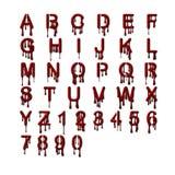 Alphabet - positionnement - capuchons Photographie stock