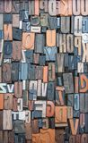 Alphabet print letters character as pattern stock photography