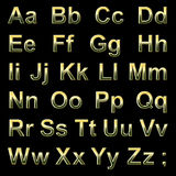 Alphabet pseudo 3d letters Royalty Free Stock Photography