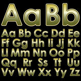 Alphabet pseudo 3d letters Royalty Free Stock Image