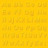 Alphabet pseudo 3d letters Stock Image