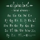 Alphabet and punctuation chalkboard Royalty Free Stock Photos