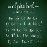Alphabet and punctuation chalkboard royalty free illustration