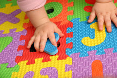 Alphabet puzzle Royalty Free Stock Photos