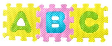 Alphabet puzzle Stock Images