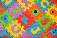 Alphabet puzzle background Royalty Free Stock Photography